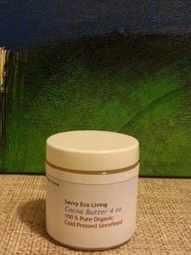 Cocoa Butter 100% Pure Organic Cold Pressed Unrefined Cocoa Butter 4 oz