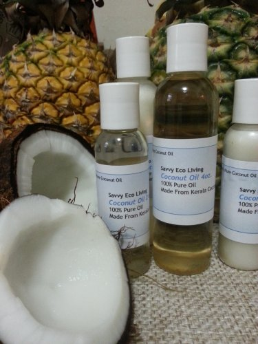 100% Pure Golden Extra Virgin Coconut Oil 4oz Amazing Coconut Aroma