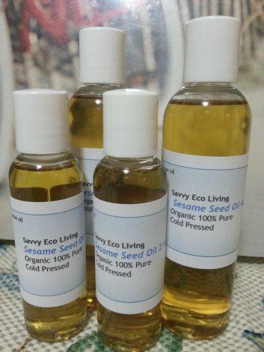 100% Pure Organic Sesame Seed Oil Organic Cold Pressed Unrefined 4oz