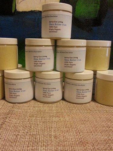 Shea Butter 100 % Pure Virgin Organic Unrefined 4 oz Shea butter