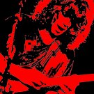 Eddie Van Halen in Red Acrylic Pop Art Painting