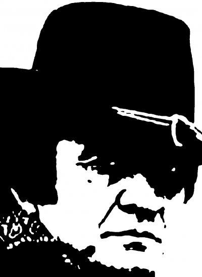 Johnny Cash Acylic Pop Art Painting