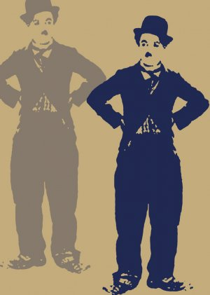 Charlie Chaplin Acylic Pop Art Painting