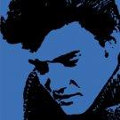 Elvis in Blue Acrylic Pop Art Painting