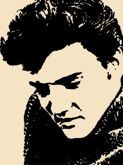 Elvis in Peach Acrylic Pop Art Painting