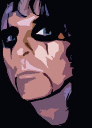 Alice Cooper Acrylic Pop Art Painting