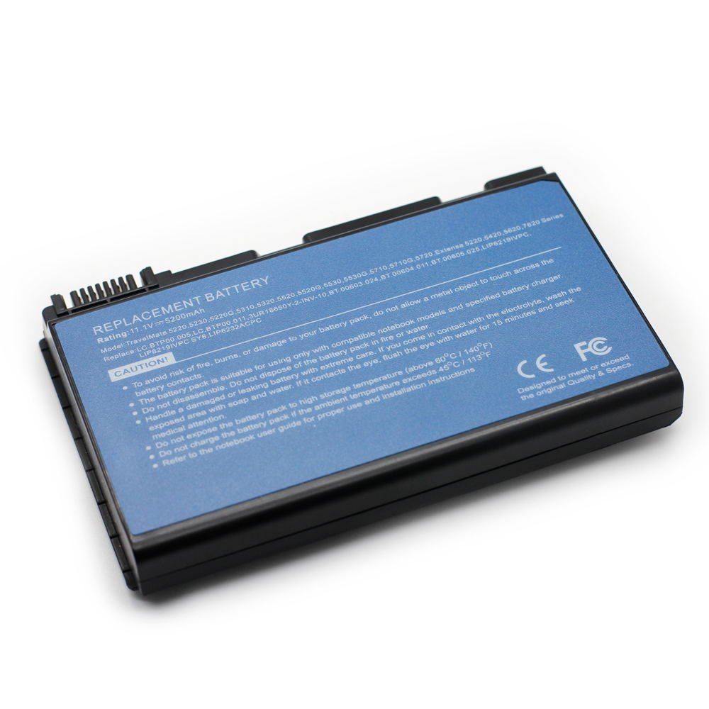 AC-5520 11.1V 5200 6cell Laptop Battery for Acer BT.00604.026,BT.00605.014,101-02013-22023