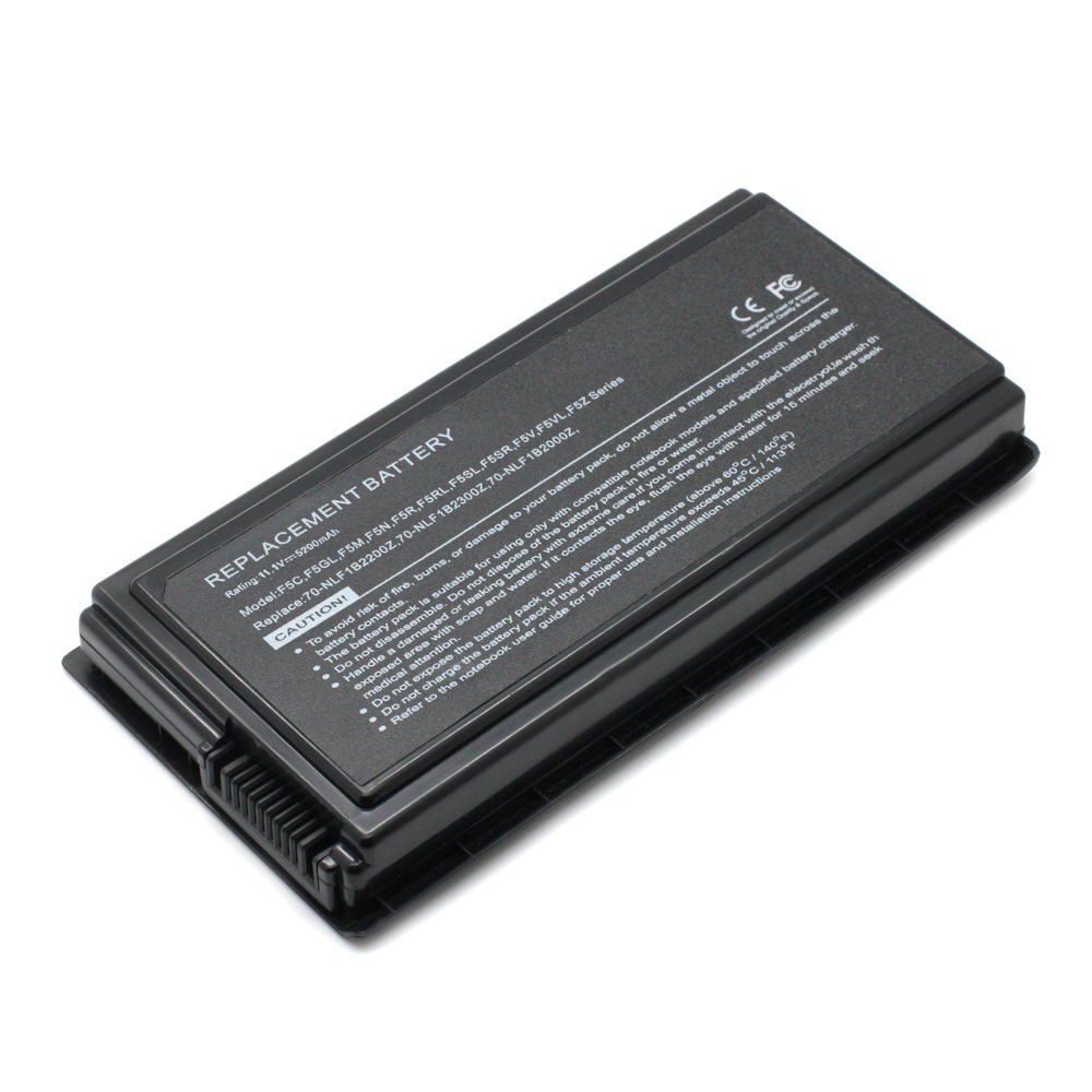 AS-F5 11.1V 5200 6cell Laptop Battery for ASUS 70-NLF1B2000Z, 70-NLF1B2000Y 101-03043-22023