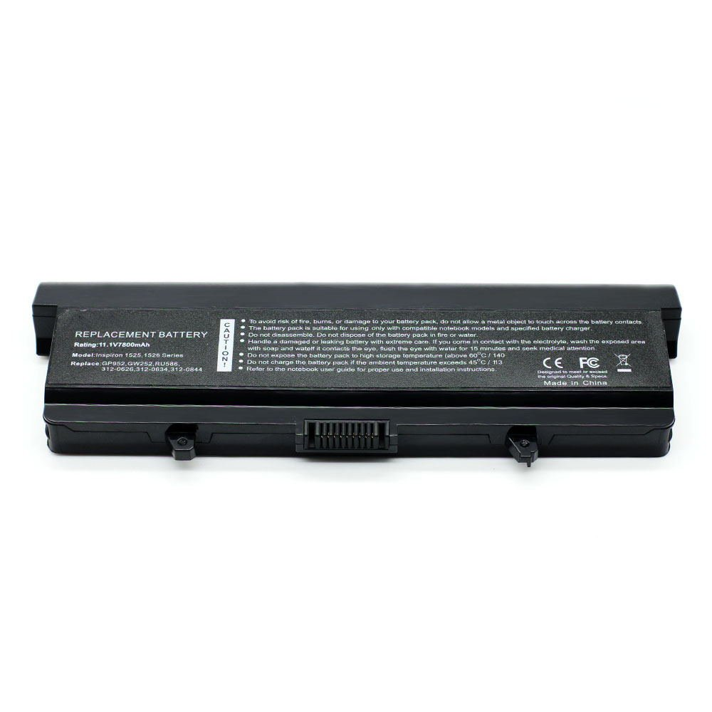 DE-1525 11.1V 7800 9cell Laptop Battery for DELL G555N, GP952, GW240, GW252 101-04072-25023