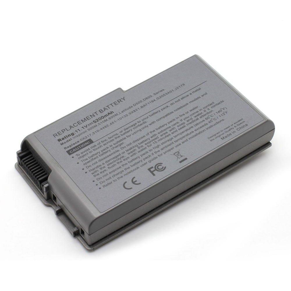 DE-D600 11.1V 5200 6cell Laptop Battery for DELL 31-5195, 312-0063, 312-0068 101-04091-22043