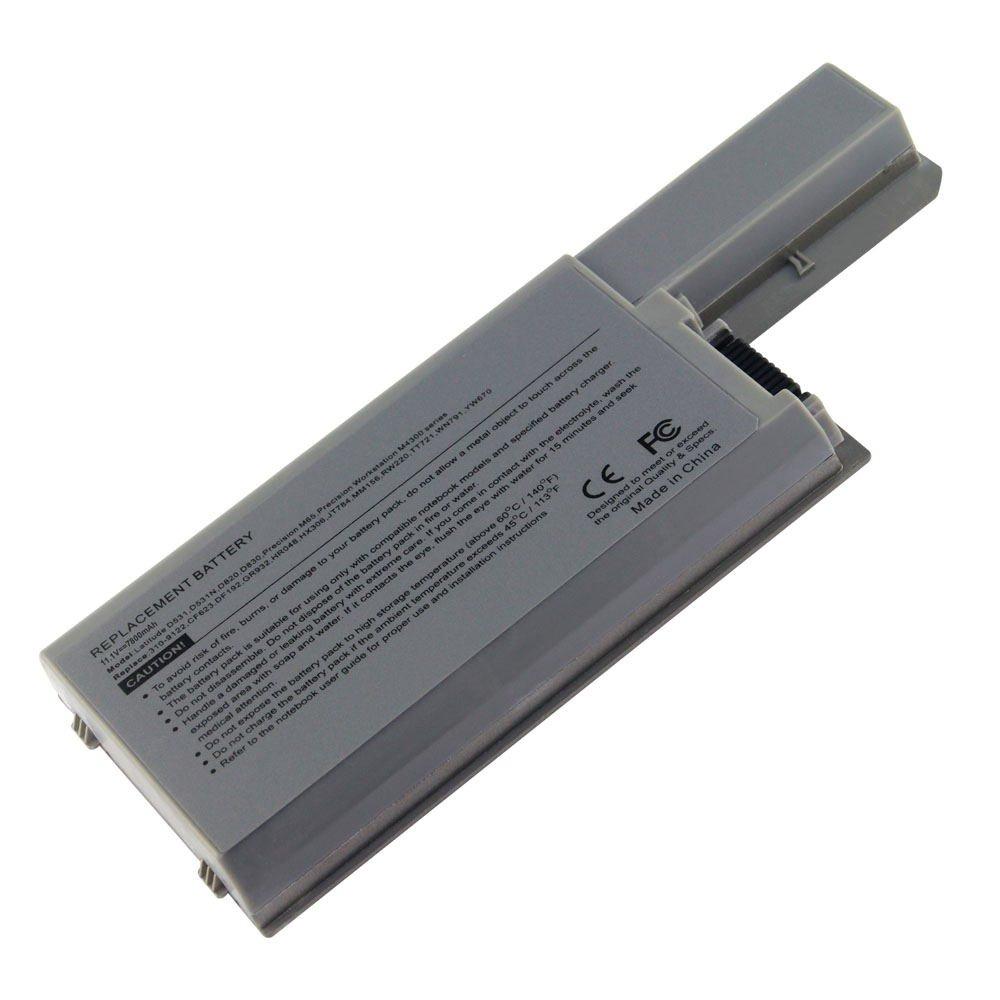 DE-D820 11.1V 7800 9cell Laptop Battery for DELL CF623, CF704, CF711, DF192 101-04095-25043