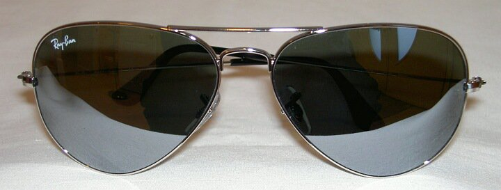 Ray Ban  AVIATOR Sunglasses Silver Frame  RB 3025 003/40 Mirror Lenses 62mm