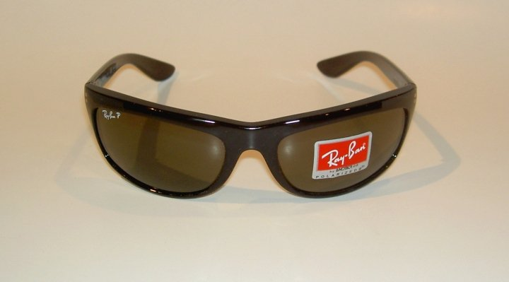 New RAY BAN Sunglasses BALORAMA Black Frame RB 4089 601/58 Glass POLARIZED Green