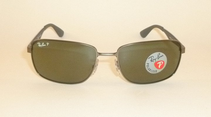 New  RAY BAN  Sunglasses  Matte Gunmetal Frame  RB 3529 029/9A  Polarized Lenses