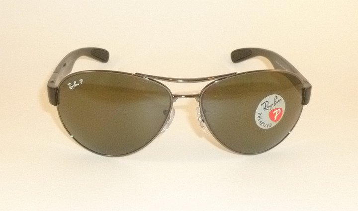 4c28c12be4 new ray ban sunglasses gunmetal frame rb 3509 004 9a polarized lenses 63mm
