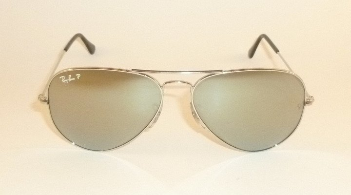 New  Ray Ban  Aviator  Sunglasses  RB 3025 019/W3  Polarized Silver Mirror  58mm
