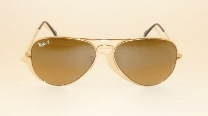 New RAY BAN Aviator Sunglasses Gold RB 3025 001/M2 Polarized Brown Gradient 58mm