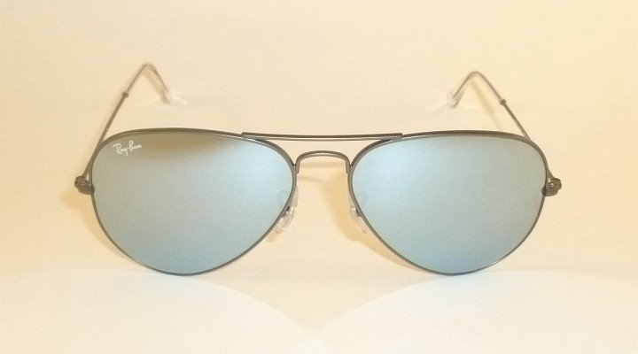 4cb2c360ad new ray ban aviator sunglasses matte gunmetal rb 3025 029 30 silver mirror  55mm