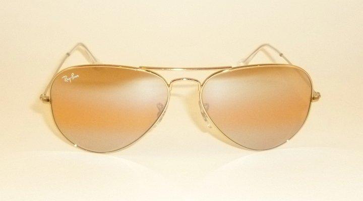 New RAY BAN  Aviator Sunglasses  Gold  RB 3025 001/4F  Photochromic Lenses  58mm