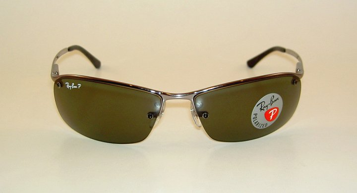 b5090fea7f new ray ban sunglasses gunmetal frame rb 3183 004 9a polarized gray green  lens