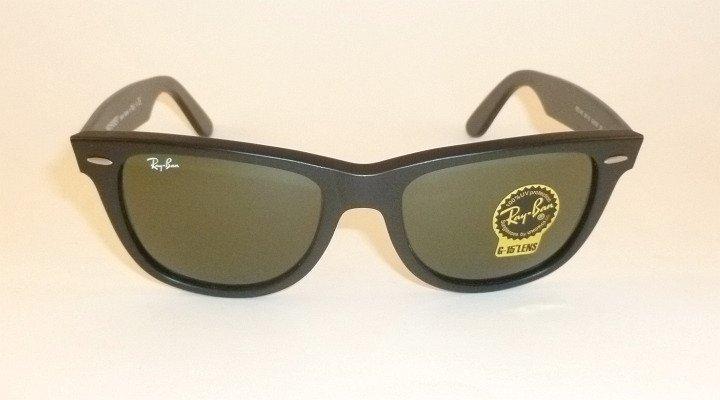 New RAY BAN Original  WAYFARER Sunglasses  RB 2140A 901S  Matte Black Frame 54mm