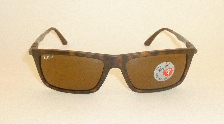 New  RAY BAN Sunglasses Tortoise Frame  RB 4214 6092/83  Polarized Brown Lenses