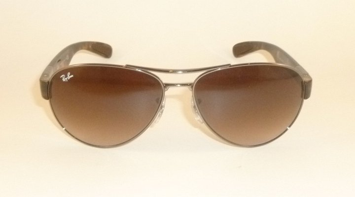 a8bbc3401b new ray ban sunglasses gunmetal frame rb 3509 004 13 gradient brown lenses