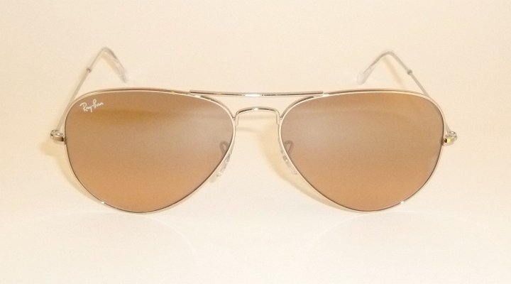 New RAY BAN Aviator Sunglasses  Silver Frame  RB 3025 003/3E  Pink Mirror Lenses