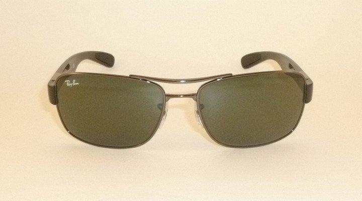 New  RAY BAN  Sunglasses  Gunmetal Frame  RB 3522 004/71  Green Lenses  64mm