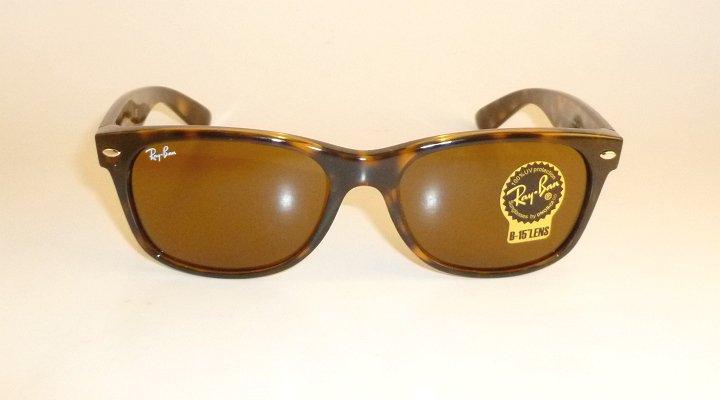 RAY BAN Sunglasses Tortoise  WAYFARER  RB 2132 710  B-15 Glass Brown Lenses 55mm