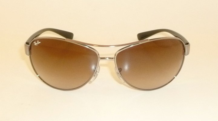 123f99a328 new ray ban sunglasses gunmetal frame rb 3386 004 13 gradient brown lenses  63mm