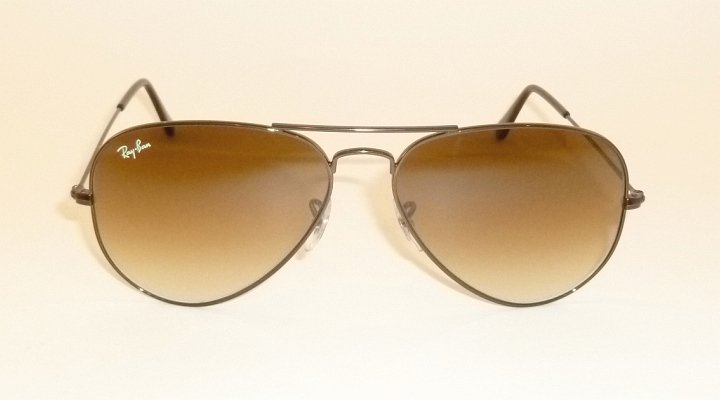 New RAY BAN Aviator Sunglasses Brown Frame  RB 3025 014/51 Gradient Brown Lenses