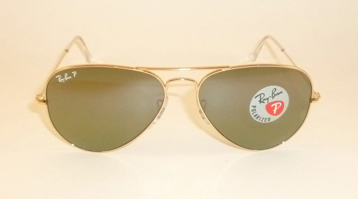 1e0ff33eae new ray ban aviator sunglasses gold frame rb 3025 001 m4 polarized green  62mm