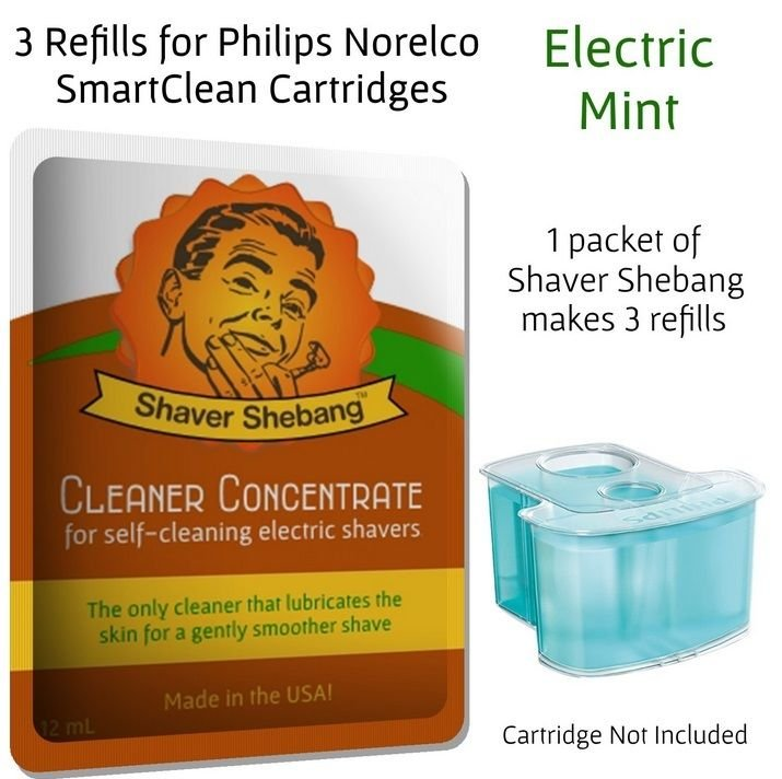 Shaver Shebang Cleaning Concentrate for all Philips Norelco Jet Clean Systems, M