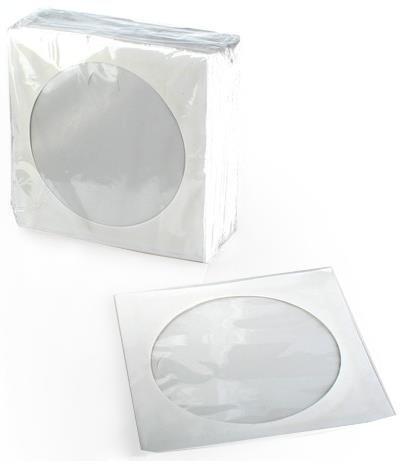 White paper sleeves GEM 100pcs