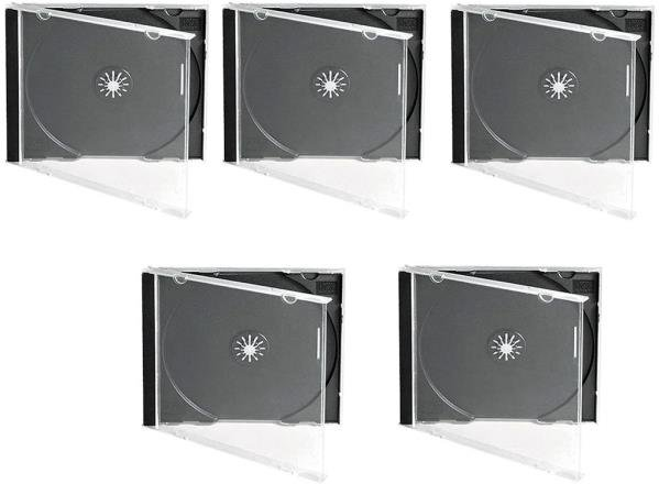 CD JEWEL CASE BLACK 5PCS