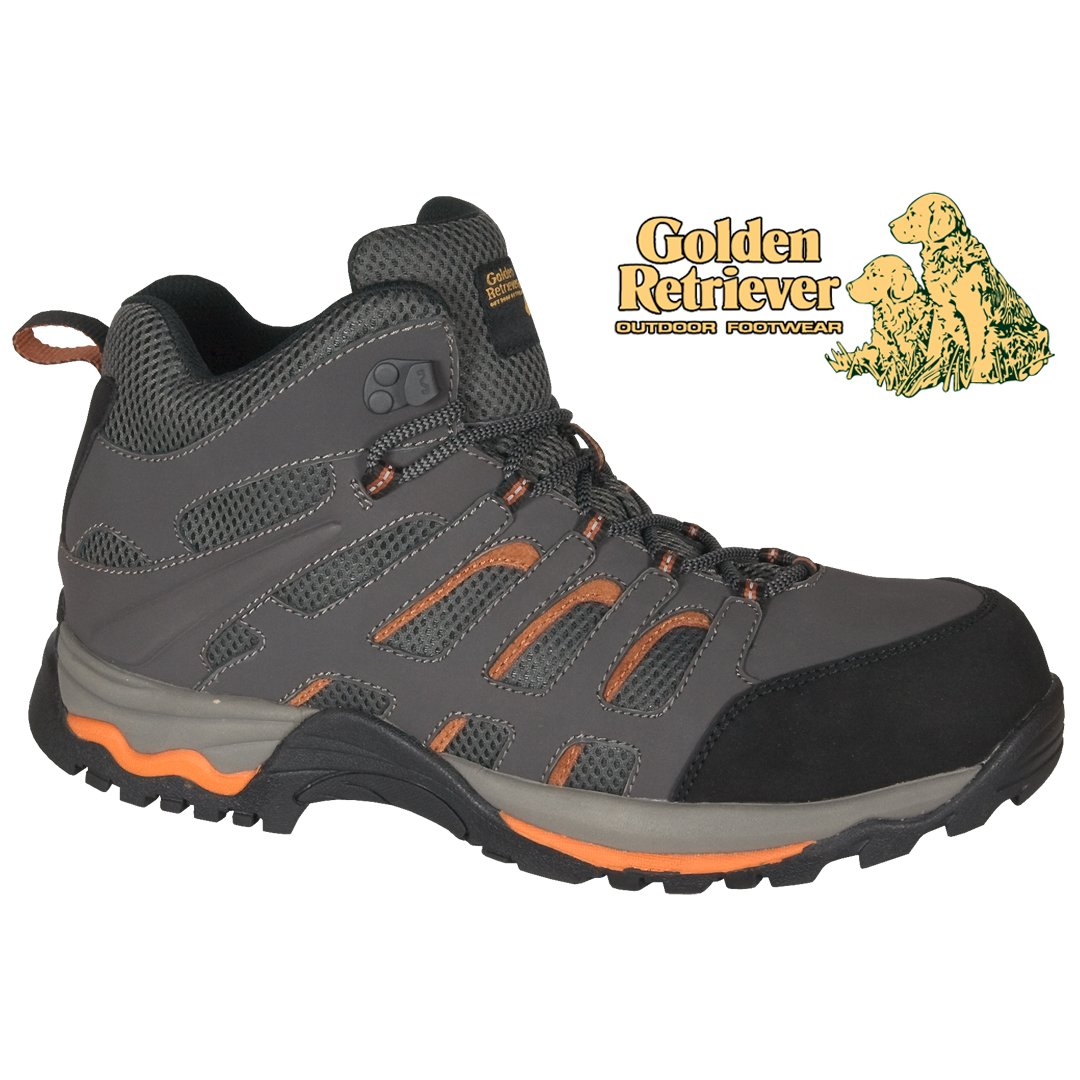 GRAY WATERPROOF LEATHER/MESH HIKER - 7572