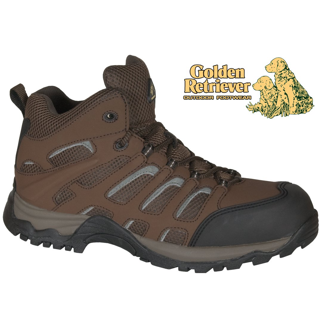 BROWN WATERPROOF LEATHER /MESH HIKER - 7573