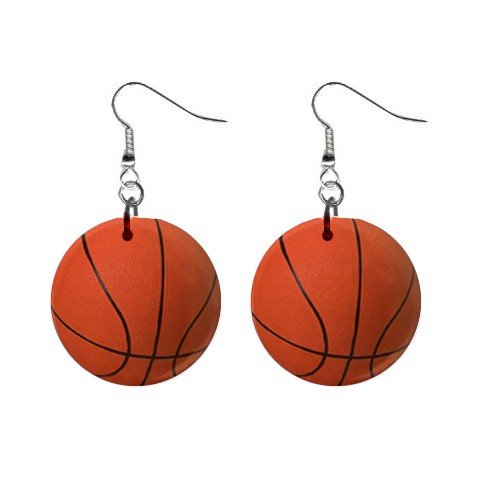 Basketball Dangle Earrings Jewelry 1 inch Buttons 12207849