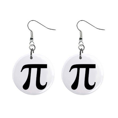 PI symbol Dangle Earrings Jewelry 1 inch Buttons 12225241