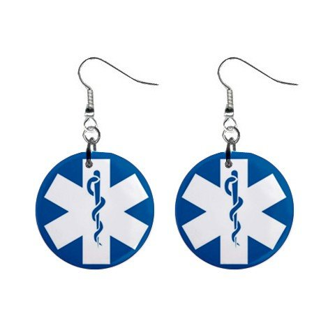 Medical Symbol Sign Dangle Earrings Jewelry 1 inch Buttons 12240149