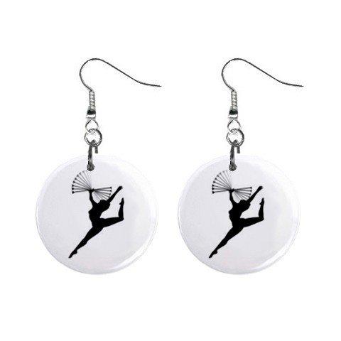 Twirling Baton Twirler #4 Dangle Earrings Jewelry 1 inch Buttons 12247249