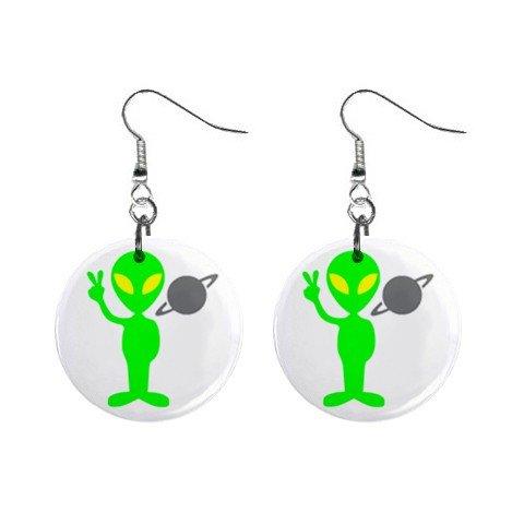 Alien Toby Axis Dangle Earrings Jewelry 1 inch Buttons 12247271