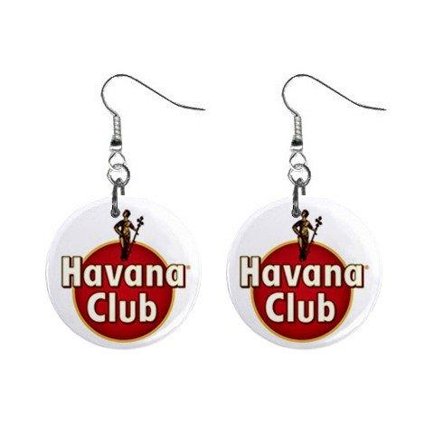 Havana Club Label Dangle Earrings Jewelry 1 inch Buttons 12247281