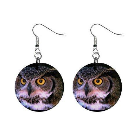 Owl Dangle Earrings Jewelry 1 inch Buttons 12247283