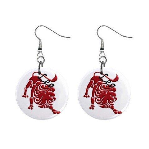 Zodiac Sign Leo Dangle Earrings Jewelry 1 inch Buttons 12176343