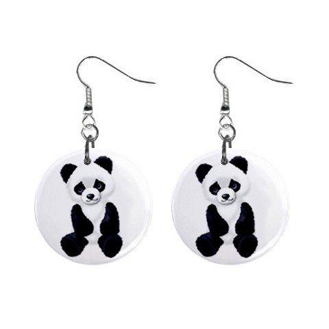 Panda Bear Dangle Earrings Jewelry 1 inch Buttons 12176323