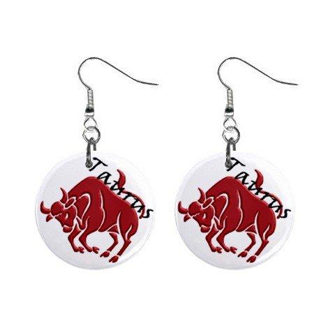 Zodiac Sign Taurus Dangle Earrings Jewelry 1 inch Buttons 12176352