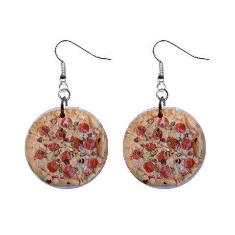 Pizza Dangle Earrings Jewelry 1 inch Buttons 12305899