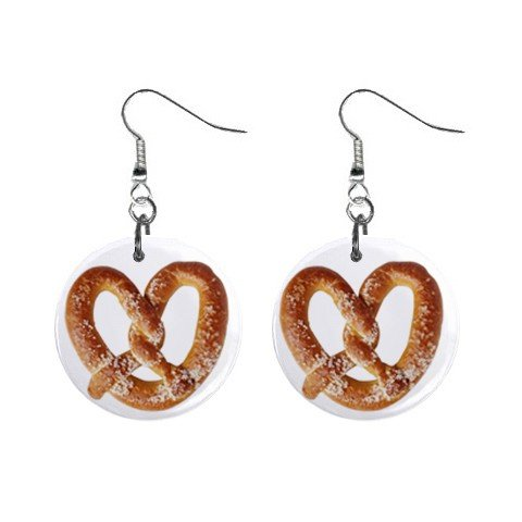 Fat Pretzel Dangle Earrings Jewelry 1 inch Buttons 12305903